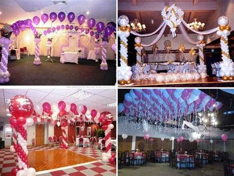 decoracion de salones para fiestas decoracion para fiestas de 15 a 241 os con globos y telas 4