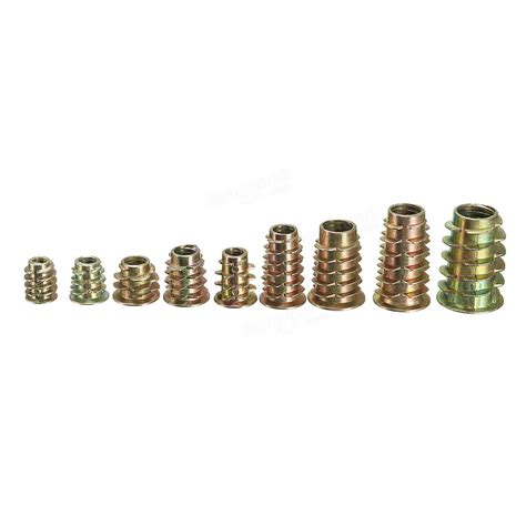 Hex Drive Screw In Threaded Insert Type D Nut For Wood