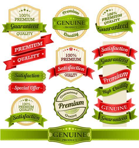 food label design eps exquisite ribbon label design vector material exquisite