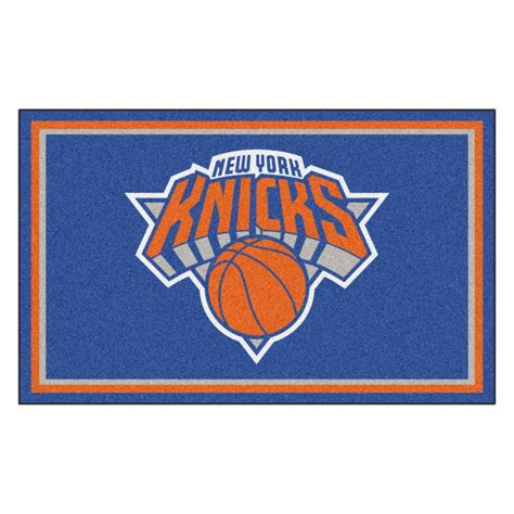 nba rugs fanmats nba new york knicks blue 4 ft x 6 ft area rug 20437 the home depot