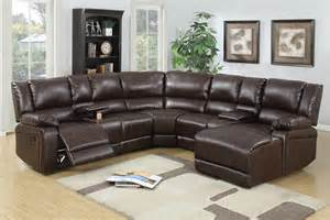 Leather Reclining Sectional Sofa 5 Pcs Reclining Sectional Brown Leather Sofa Set