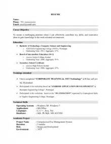 Resume For Science by Resume Format For Computer Science Engineering Students Sles Of Resumes