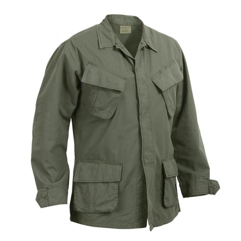 Baju U S Army vintage olive drab green war replica combat