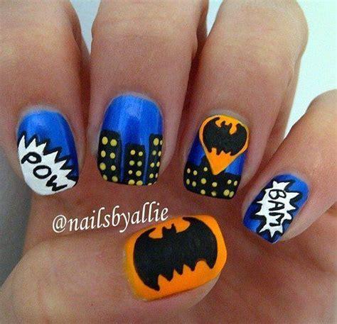 nail art batman tutorial batman nails the girls joint bday pinterest batman