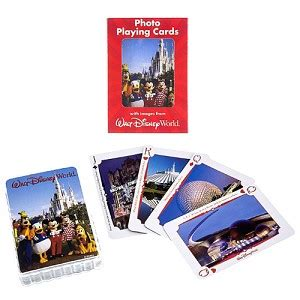 your wdw store disney playing cards walt disney world photos 2nd ed - Gift Card For Disney World