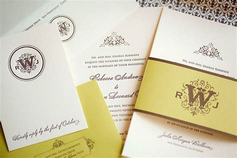 wedding invitations for less letterpress wedding invitation with chocolate colored