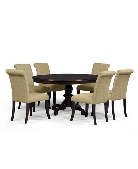 Dining Room Set Upholstered Chairs Bradford 7 Dining Room Furniture Set With