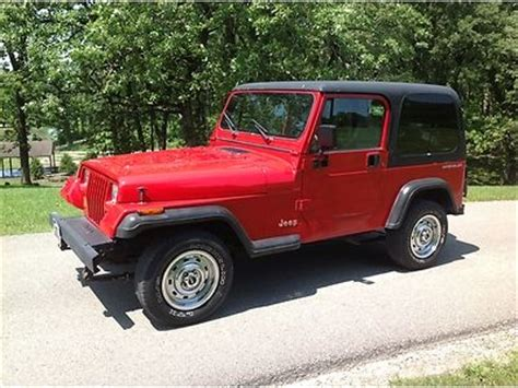 1995 Jeep Wrangler Top Find Used 1995 Jeep Wrangler Top 4x4 A C