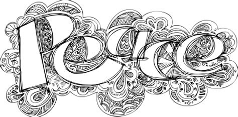 free doodle letters doodle coloring page peace therapy mandala