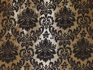 Black Linen Upholstery Fabric Gold Damask Chenille Upholstery Drapery Fabric