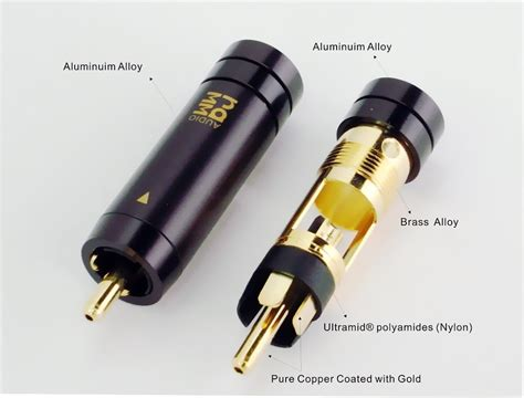Rca Ramm S3 25m 30780lg rca connectors pair ramm audio the of audiophile