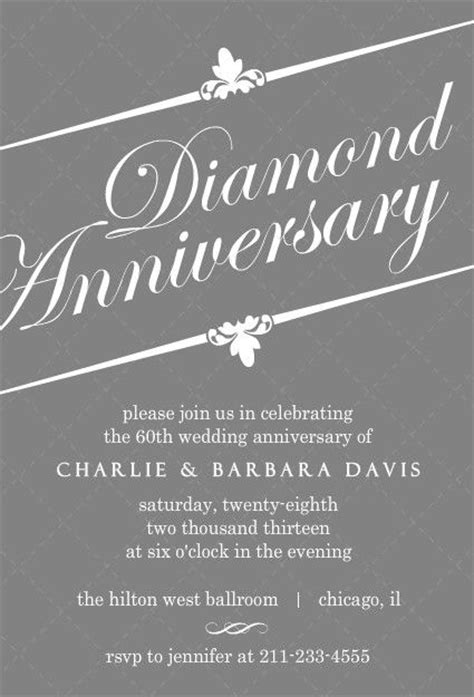 60th anniversary invitations templates 60th anniversary parties invitations and gray on pinterest