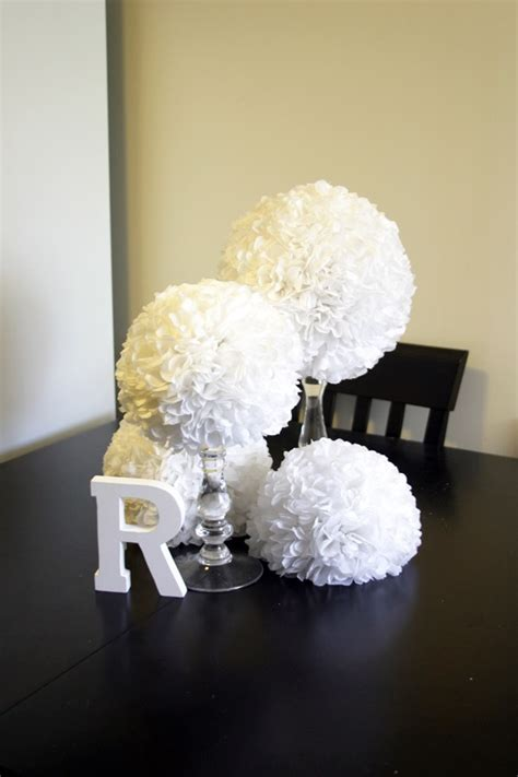 How To Make Tissue Paper Centerpieces - diy tissue pomander centerpieces aylee bits