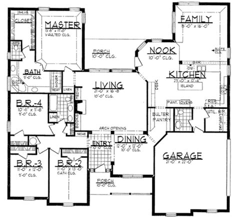 sq footage european style house plan 4 beds 2 5 baths 2700 sq ft