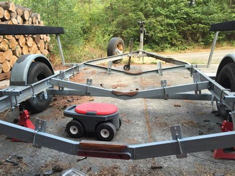 convert boat trailer to rollers convert a trailer from rollers to bunk style