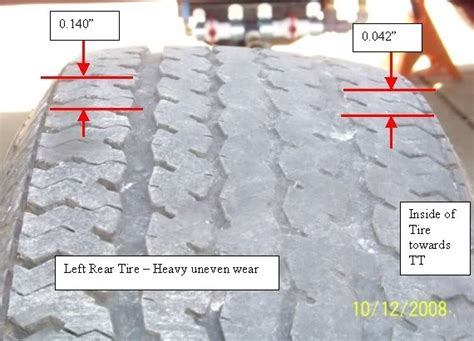 boat trailer tires wearing on inside and outside tire wear pattern tandem axle tt pic s where to look