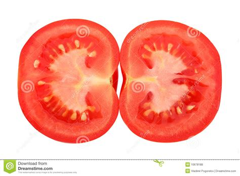 tomato cross section cross section tomato royalty free stock photos image