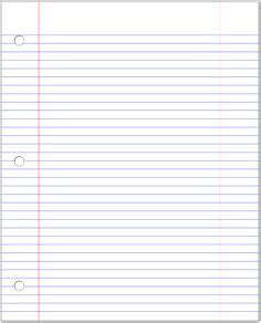 Notebook Paper Template To Type On narrow ruled paper with white lines on a light