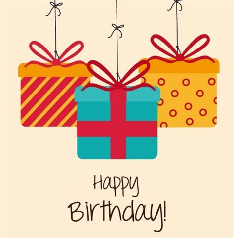 happy birthday gift card design free happy birthday gift boxes vector titanui