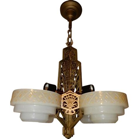 Prairie Style Light Fixtures Four Light Deco Slip Shade Prairie Style Ceiling Fixture From Midwestern L Connection On Ruby