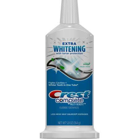 crest complete multi benefit extra whitening  tartar