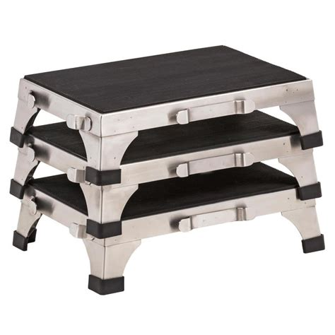 stainless steel stacking step stool by mid central clinton stainless steel stacking stool stools