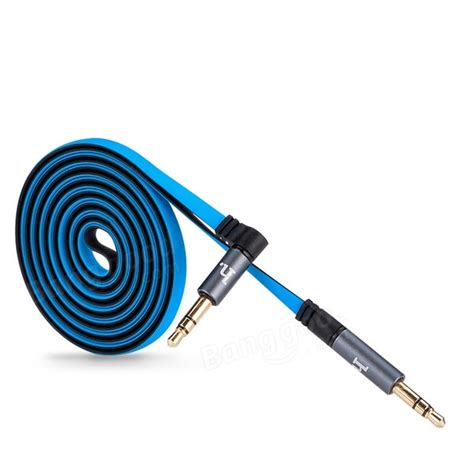 Kabel Aux Dual Colours 35mm Audio Aux In Cable hoco upa01 dual color aux cable 3 5mm 1 6 meter blue jakartanotebook