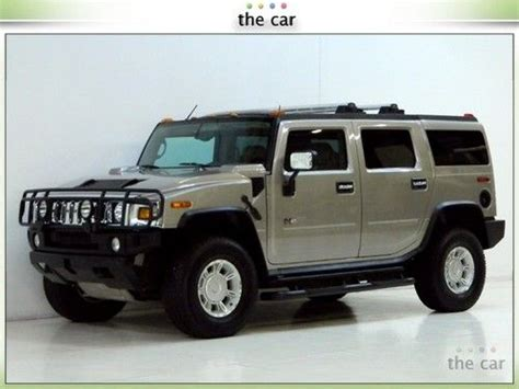 find used 03 hummer h2 suv 4x4 moonroof 3rd seat brush