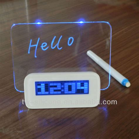 Jam Alarm Lcd Display Alarm Clock With Memo Board blue light digital lcd led message memo board alarm clock buy led message board alarm clock