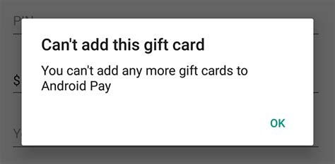 Android Pay Limit by Android Pay S Gift Card Limitations You Can Only Add 10
