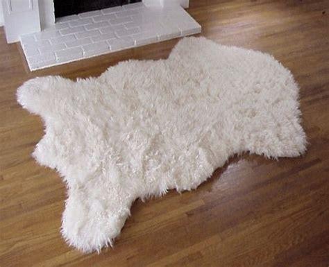 faux polar skin rug with faux polar rug polar without fur rug