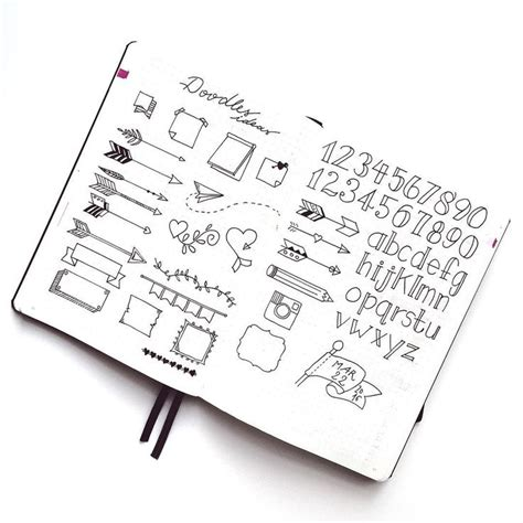 doodle journaling ideas fonts and doodles bullet journal search