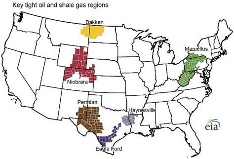 united states shale map major us shale plays