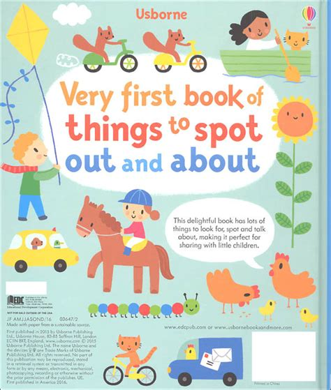 Usborne Book Of Things To Spot Out And About Board Book 1 usborne book of things to spot out and about