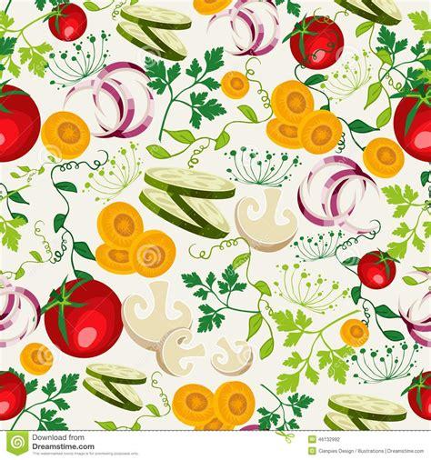 pattern illustrator food vegetarian food pattern background stock vector