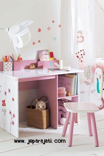 Meja Belajar Warna Pink meja belajar anak minimalis pink jepara jati