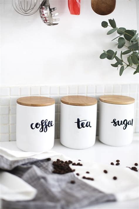 Kitchen Canister Labels by Best 25 Tea And Coffee Jars Ideas On Pinterest Coffee