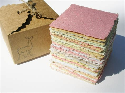 Recycled Handmade - handmade recycled note paper with llama poo fox hill llamas