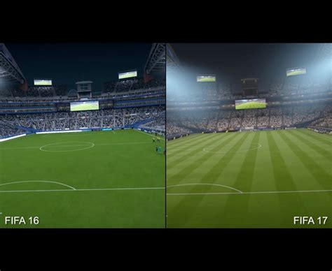 One Graphic 17 fifa 17 graphics comparison as release date nears on ps4
