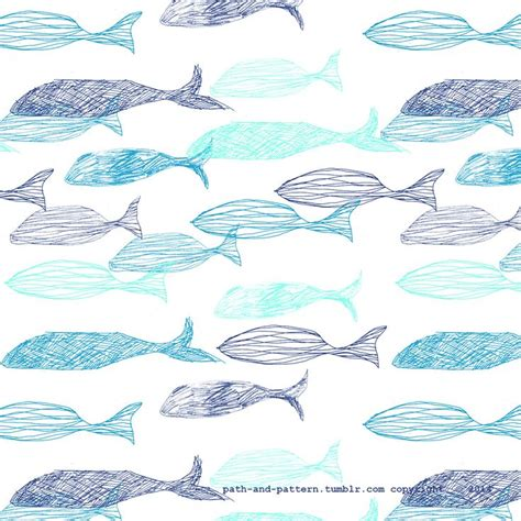 whale pattern background tumblr whale fish pattern backgrounds prints patterns pinterest