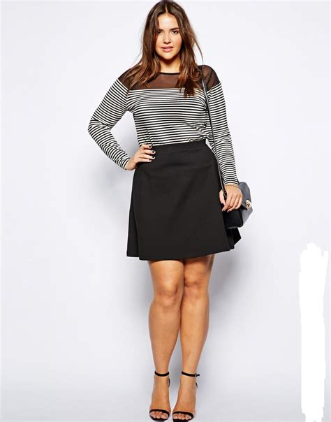 plus size a line mini skirt fold decoration skirt for