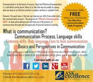 askexcellence announces communication skills
