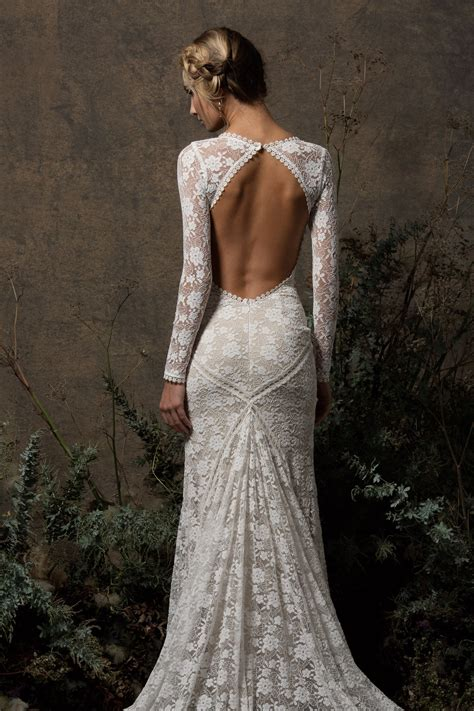 backless lace valentina backless lace wedding dress dreamers and lovers