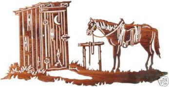 outhouse metal wall hanging western decor ebay