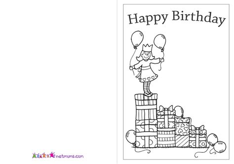 printable birthday cards coloring birthday card coloring printable www imgkid com the