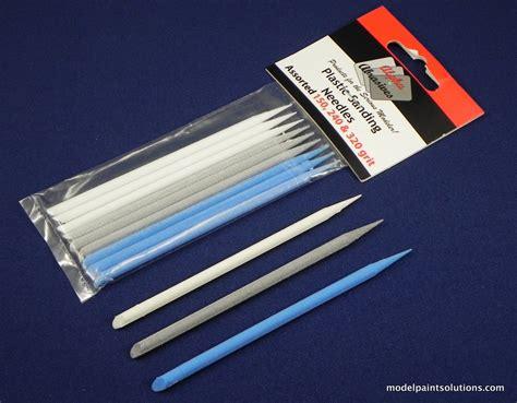 Premium Needle Bugpin 12 Disposable Tip Mix Pack plastic sanding needles model paint solutions