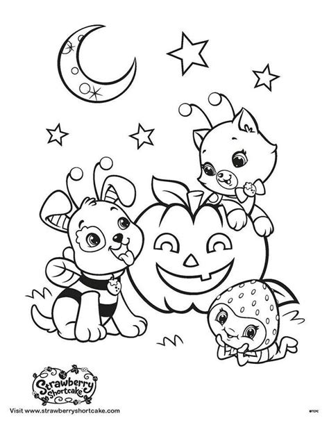 coloring page strawberry shortcake pinterest