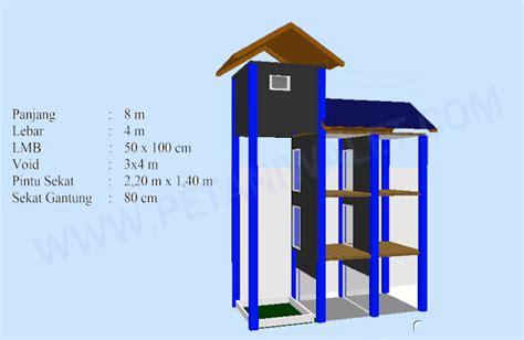 contoh desain gedung rumah walet 4x8 m lengkap superwalet