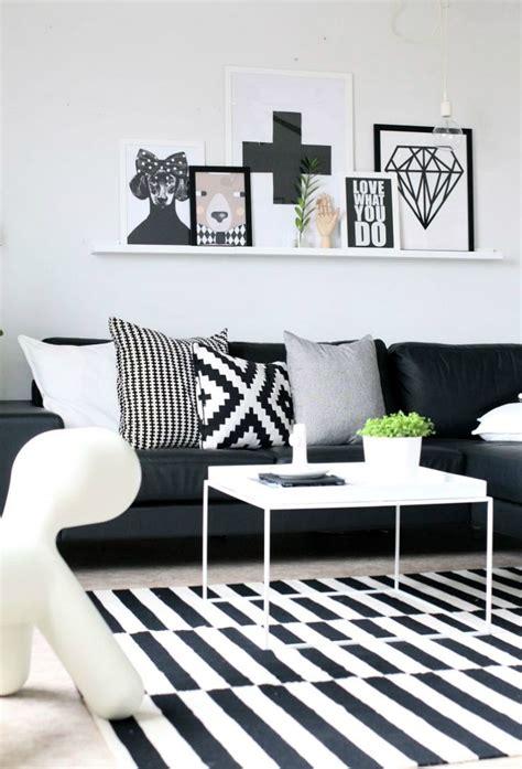 decoracion en blanco  negro estilo escandinavo muebles