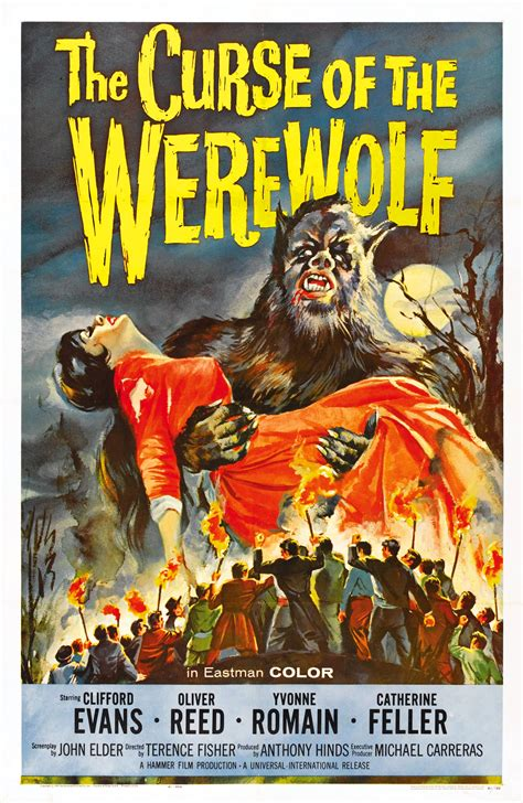 film horror wolf poster for the curse of the werewolf 1961 uk wrong